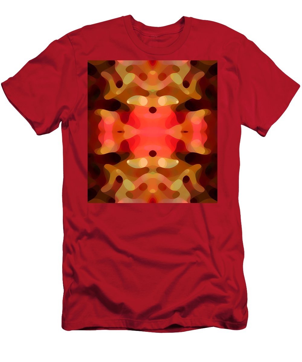 Abstract Painting Men's T-Shirt (Athletic Fit) featuring the digital art Las Tunas Abstract Pattern by Amy Vangsgard