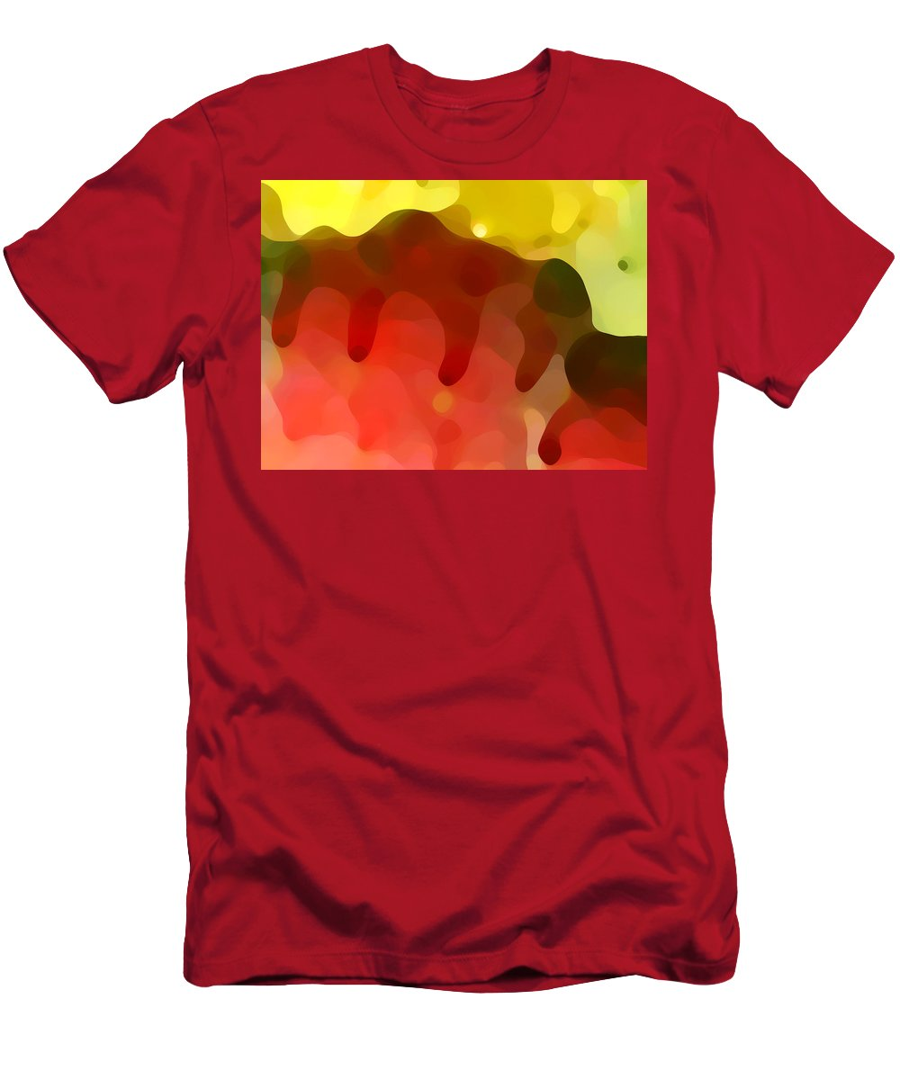 Abstract Men's T-Shirt (Athletic Fit) featuring the painting Las Tunas Ridge by Amy Vangsgard