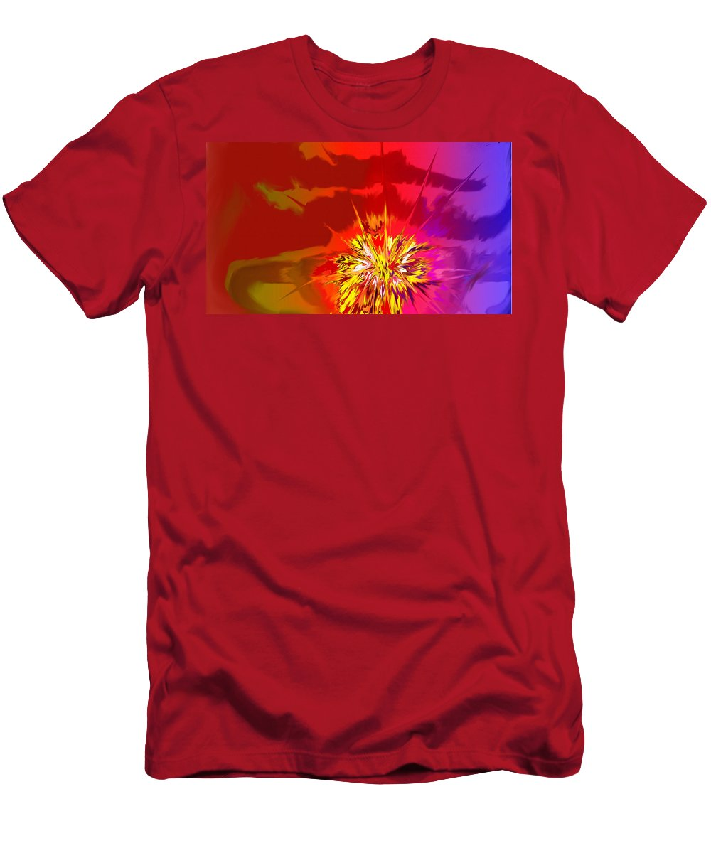 Abstract T-Shirt featuring the digital art Last Flash by Ian MacDonald