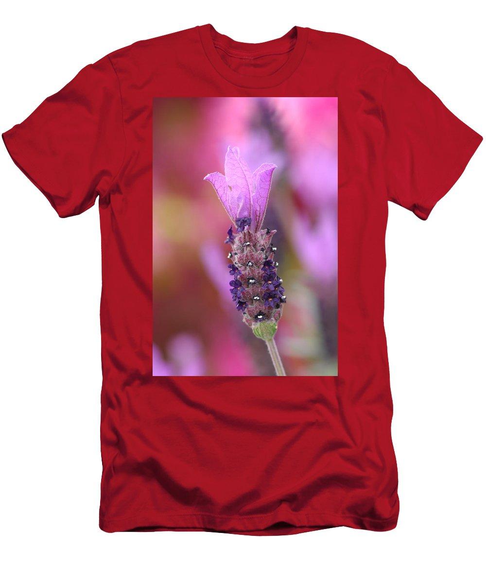Lavendar Men's T-Shirt (Athletic Fit) featuring the photograph Lavendar Flower by Donna Blackhall