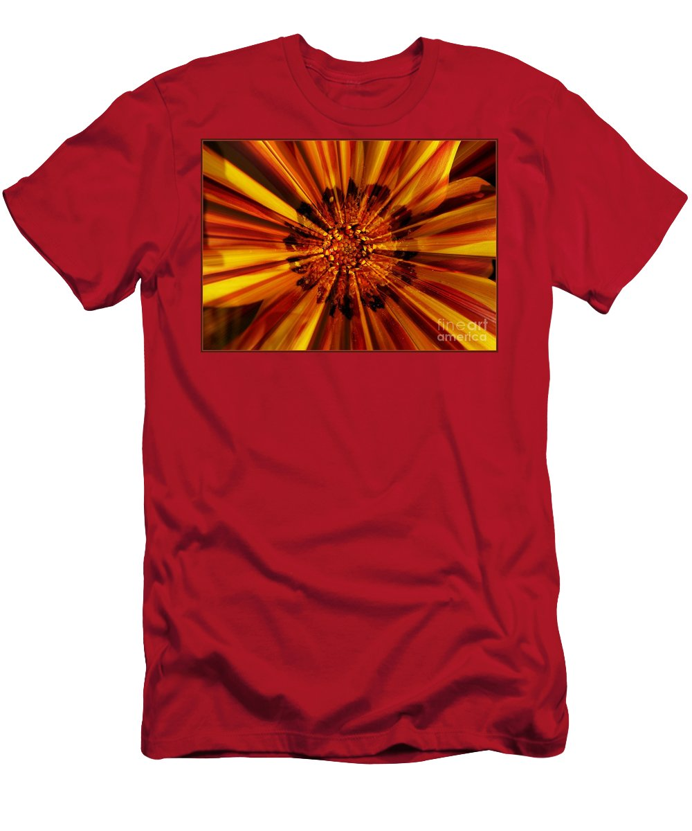 Nature Abstract Men's T-Shirt (Athletic Fit) featuring the photograph Let Your Light Shine by Carol Groenen