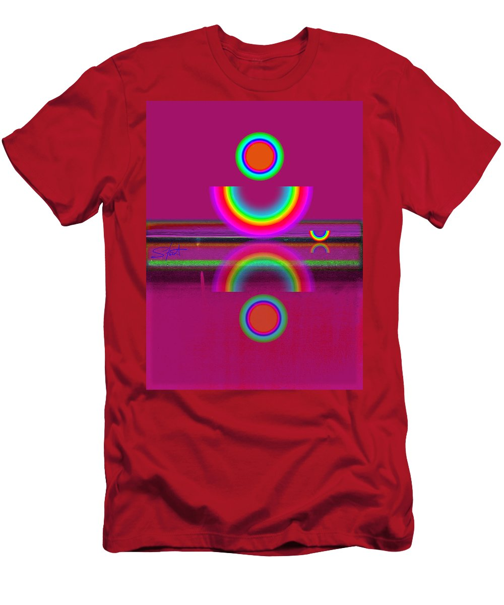 Reflections Men's T-Shirt (Athletic Fit) featuring the painting Light Red by Charles Stuart