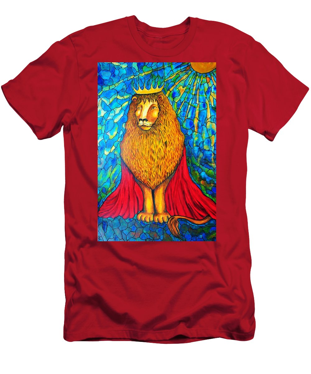 Original Art T-Shirt featuring the painting Lion-King by Rae Chichilnitsky