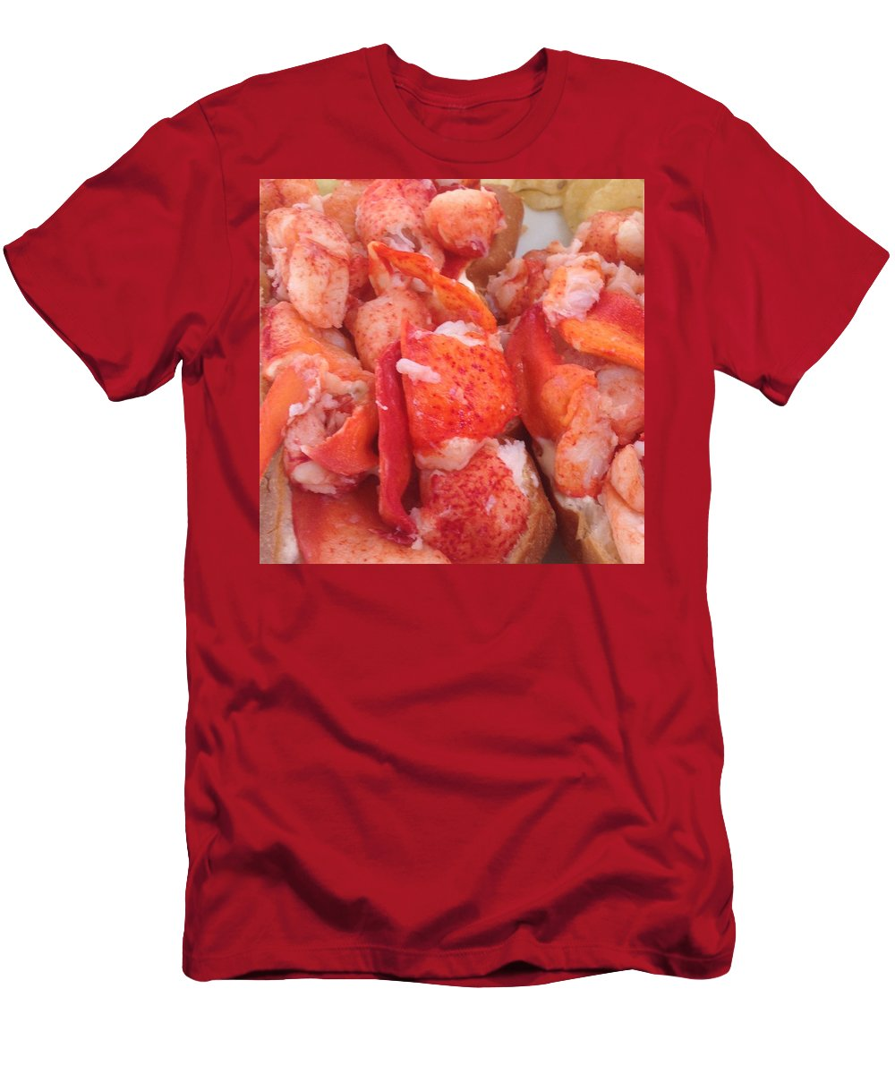 Maine Men's T-Shirt (Athletic Fit) featuring the photograph Lobster by Bill Minkowitz