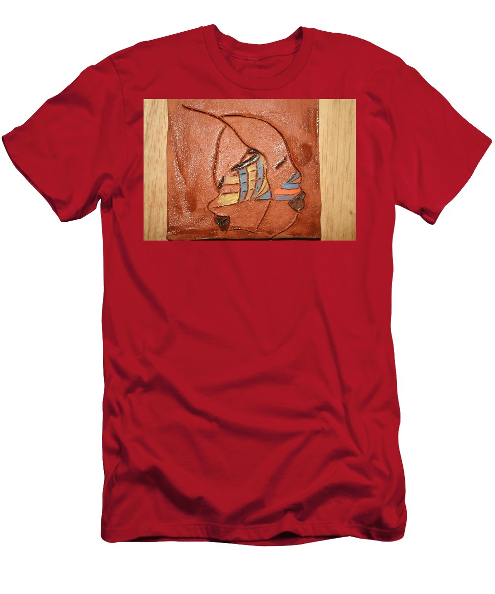 Jesus Men's T-Shirt (Athletic Fit) featuring the ceramic art Looking Glass - Tile by Gloria Ssali