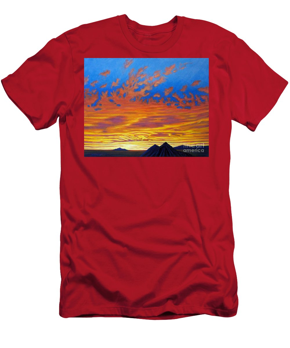 Landscape Men's T-Shirt (Athletic Fit) featuring the painting Looking To The Southwest by Brian Commerford