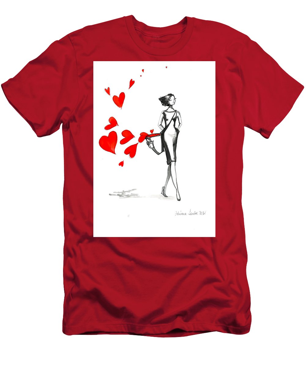 Lady Men's T-Shirt (Athletic Fit) featuring the painting Lose Your Heart by Adriana Laube