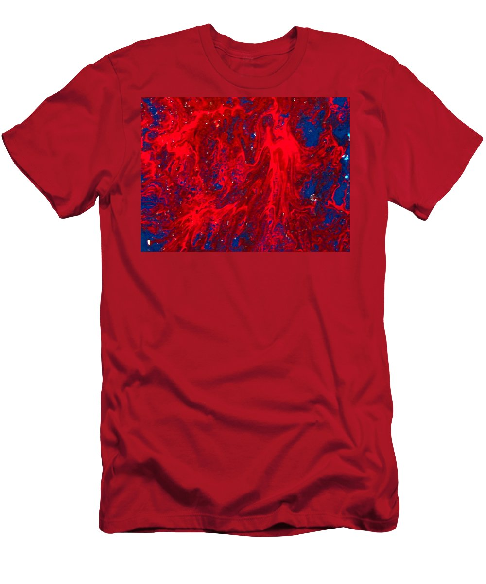 Abstract Art Men's T-Shirt (Athletic Fit) featuring the painting Lost Souls by Natalie Holland
