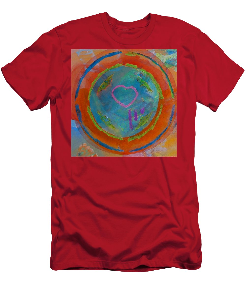 Logo Men's T-Shirt (Athletic Fit) featuring the painting Love The Sea by Charles Stuart