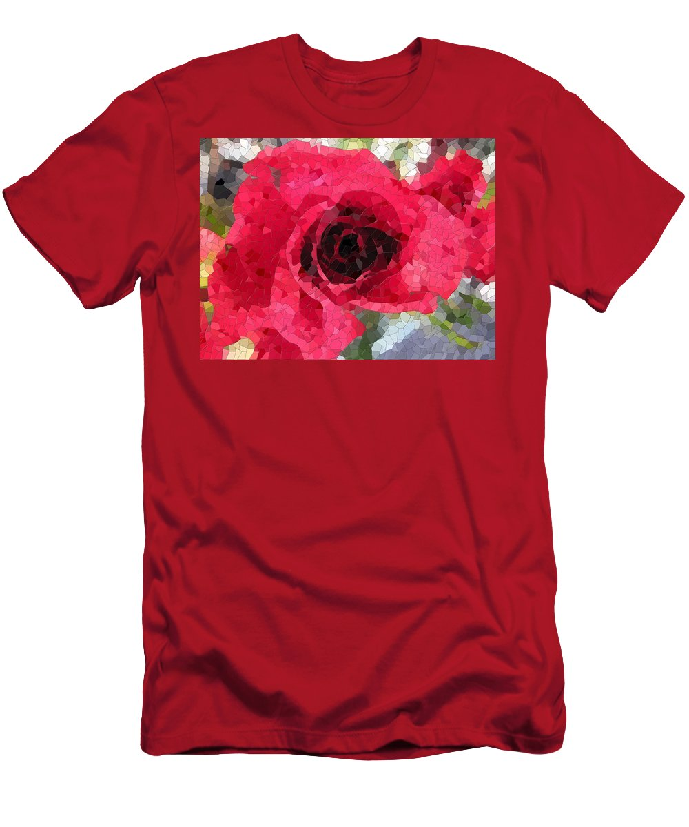 Rose Men's T-Shirt (Athletic Fit) featuring the digital art Love You by Tim Allen