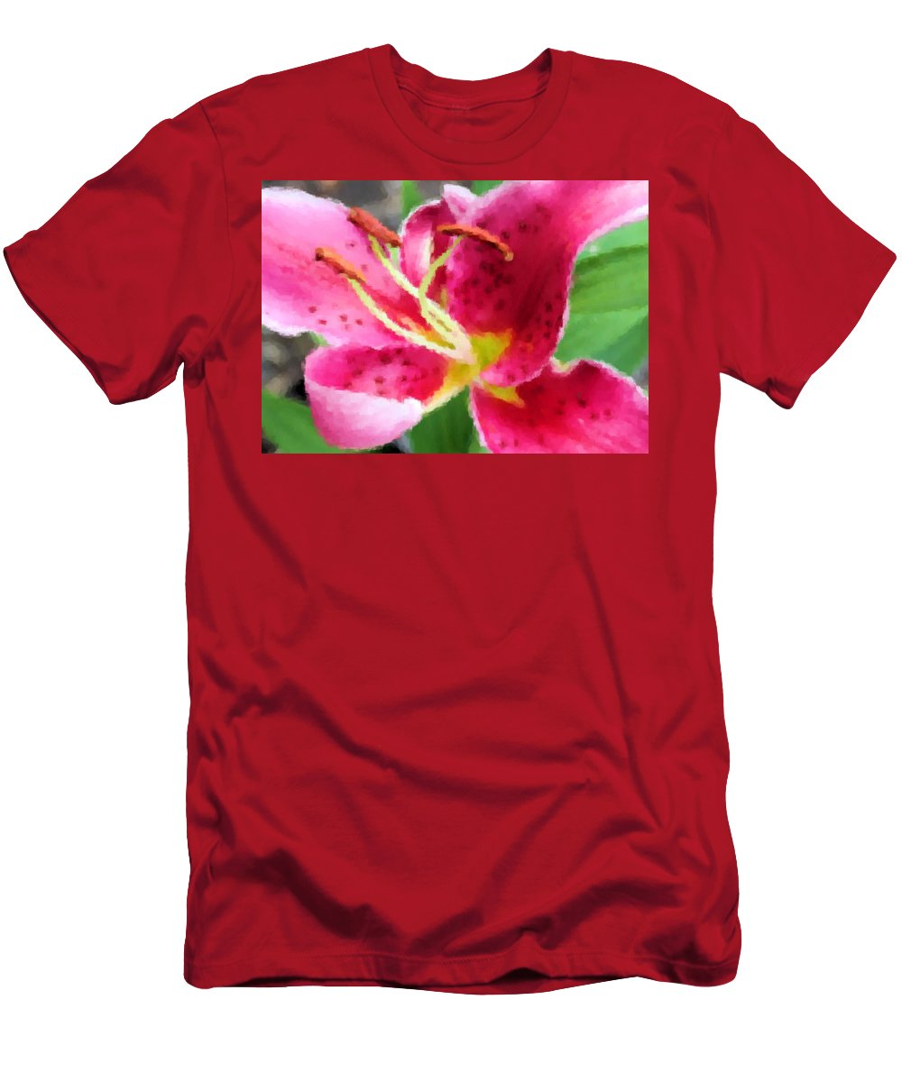 Lily Men's T-Shirt (Athletic Fit) featuring the photograph Lovely by Kristin Elmquist