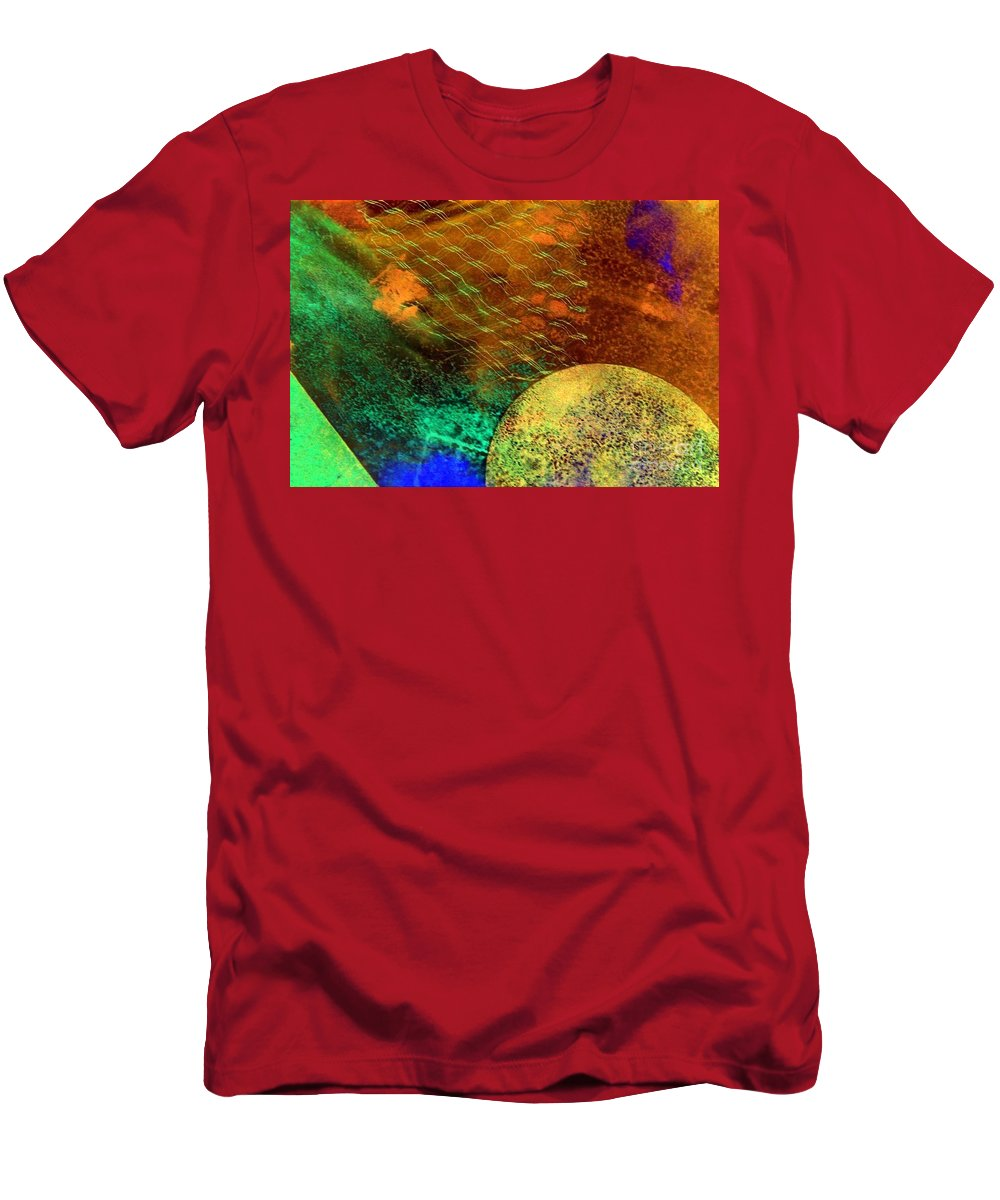 Mad Mad World Men's T-Shirt (Athletic Fit) featuring the painting Mad Mad World by Dawn Hough Sebaugh