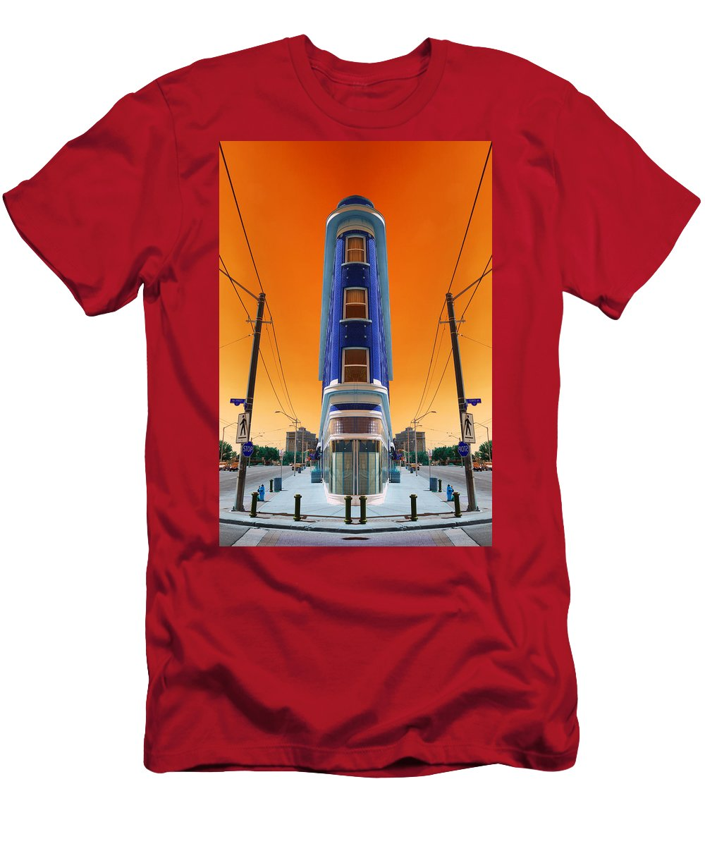 Abstract Men's T-Shirt (Athletic Fit) featuring the photograph Mad World by Wayne Sherriff