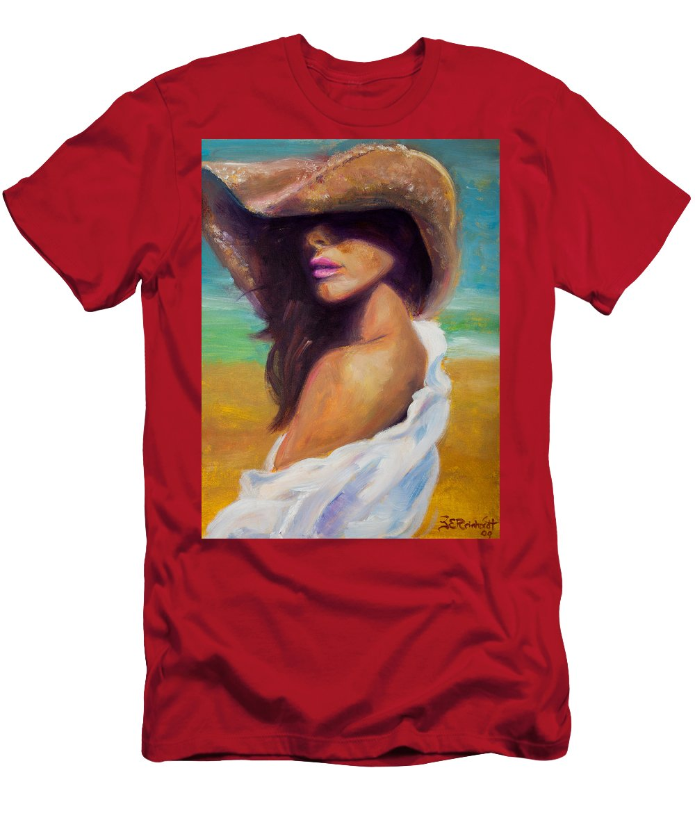 Girl Men's T-Shirt (Athletic Fit) featuring the painting Made In The Shade by Jason Reinhardt