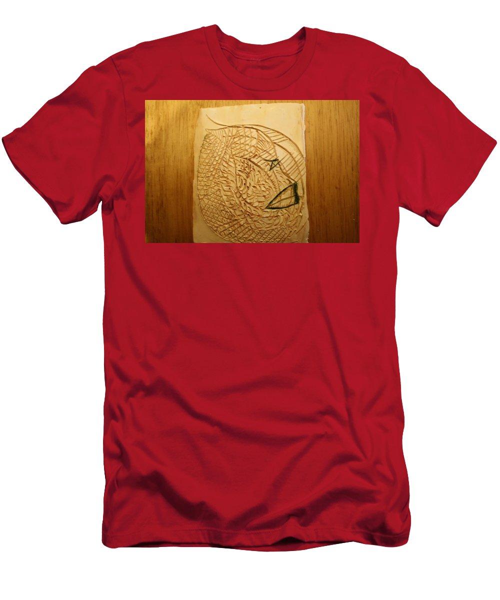 Jesus Men's T-Shirt (Athletic Fit) featuring the ceramic art Malachi - Tile by Gloria Ssali