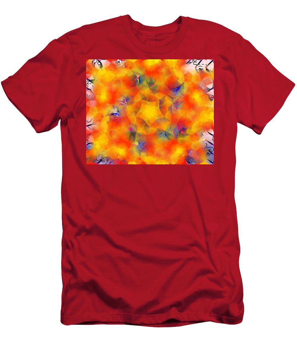 Mandala 3 Men's T-Shirt (Athletic Fit) featuring the digital art Mandala 3 by Catherine Lott