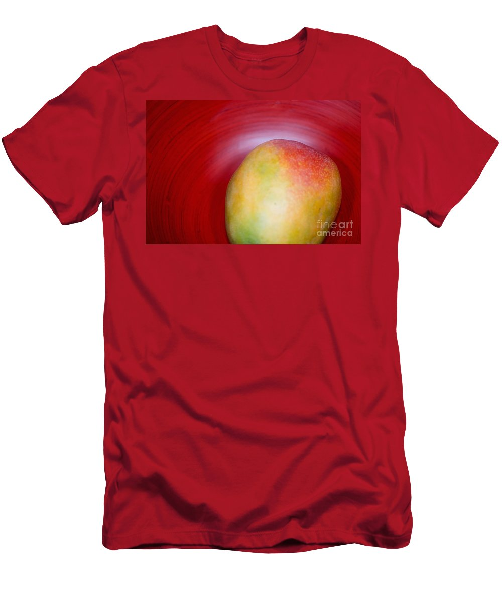 Asian Men's T-Shirt (Athletic Fit) featuring the photograph Mango Close-up by Ray Laskowitz - Printscapes