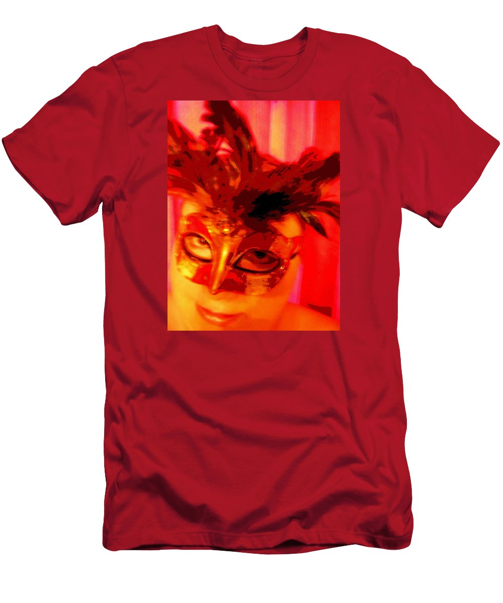 Masquerade Men's T-Shirt (Athletic Fit) featuring the photograph Masquerade by April Patterson
