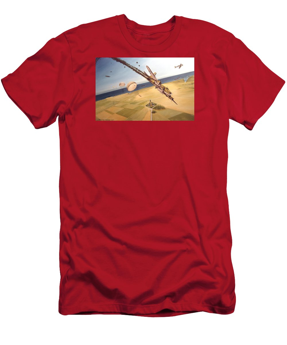 Aviation T-Shirt featuring the painting Mehitabel by Marc Stewart