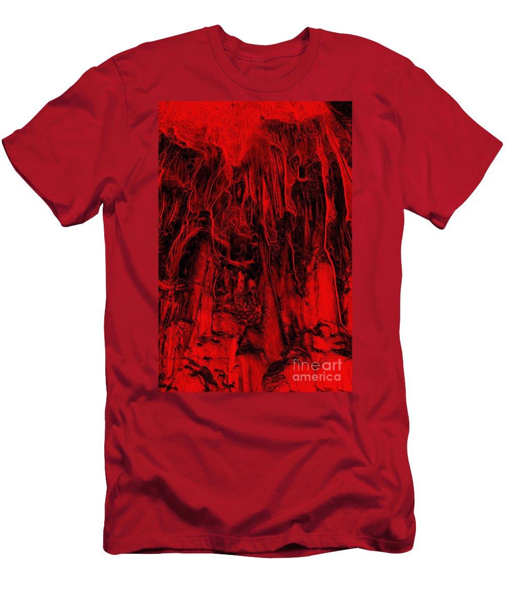 Metamorphism Men's T-Shirt (Athletic Fit) featuring the digital art Metamorphism - Bizarre Shapes by Michal Boubin