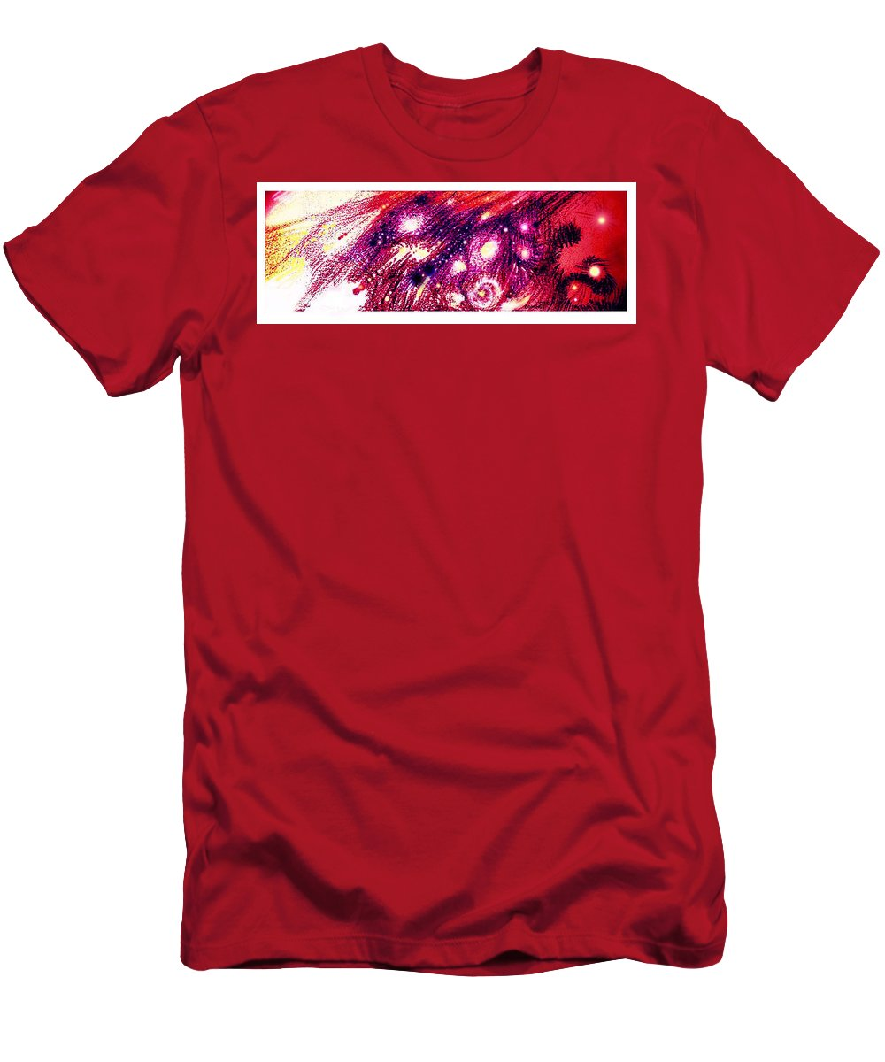 Graphic Men's T-Shirt (Athletic Fit) featuring the painting Meteors 1 by John A Dominge