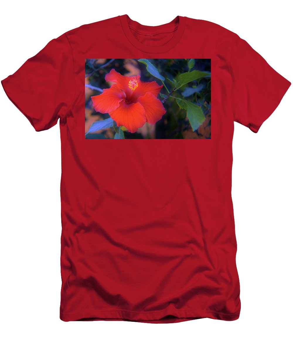 Hibiscus Men's T-Shirt (Athletic Fit) featuring the photograph Mexican Hibiscus by Marilyn Alexander