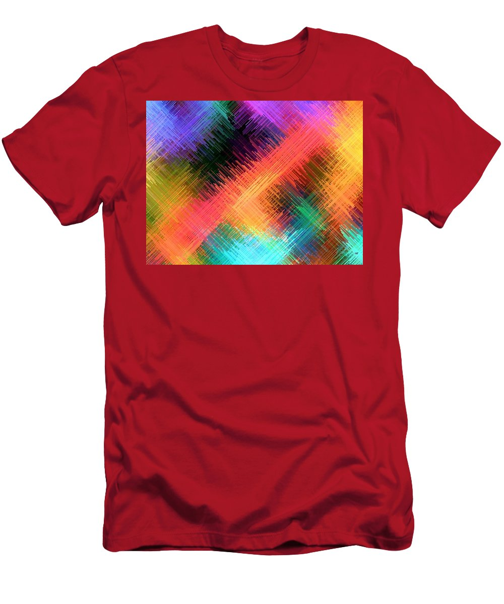 Micro Linear Men's T-Shirt (Athletic Fit) featuring the digital art Micro Linear 14 by Will Borden