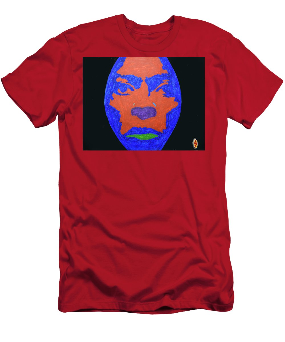 Pop Art Men's T-Shirt (Athletic Fit) featuring the painting Miles Ahead by Stormm Bradshaw