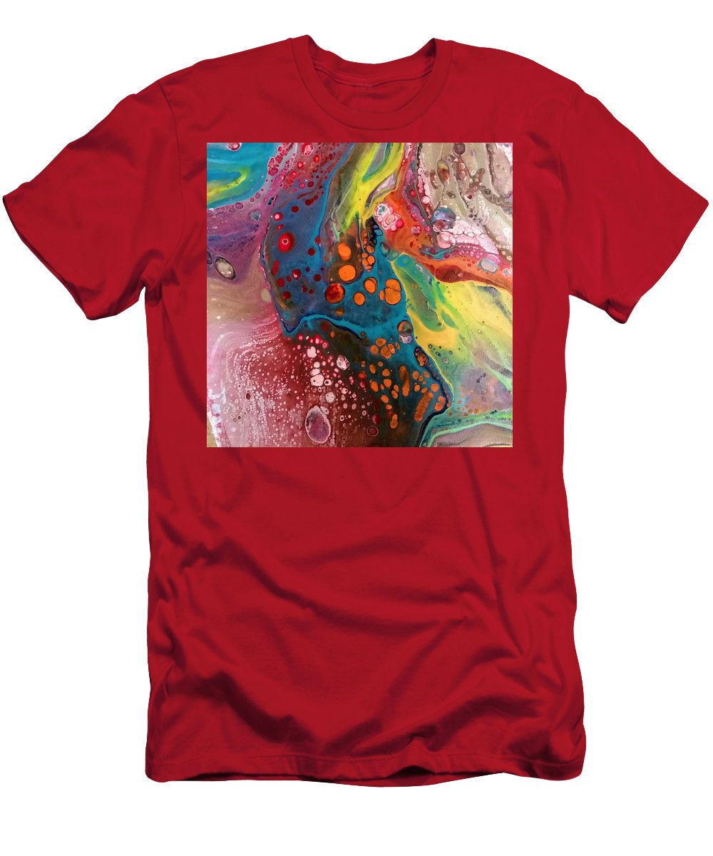 Colorful Abstract Movement T-Shirt featuring the painting Mini1 by Valerie Josi