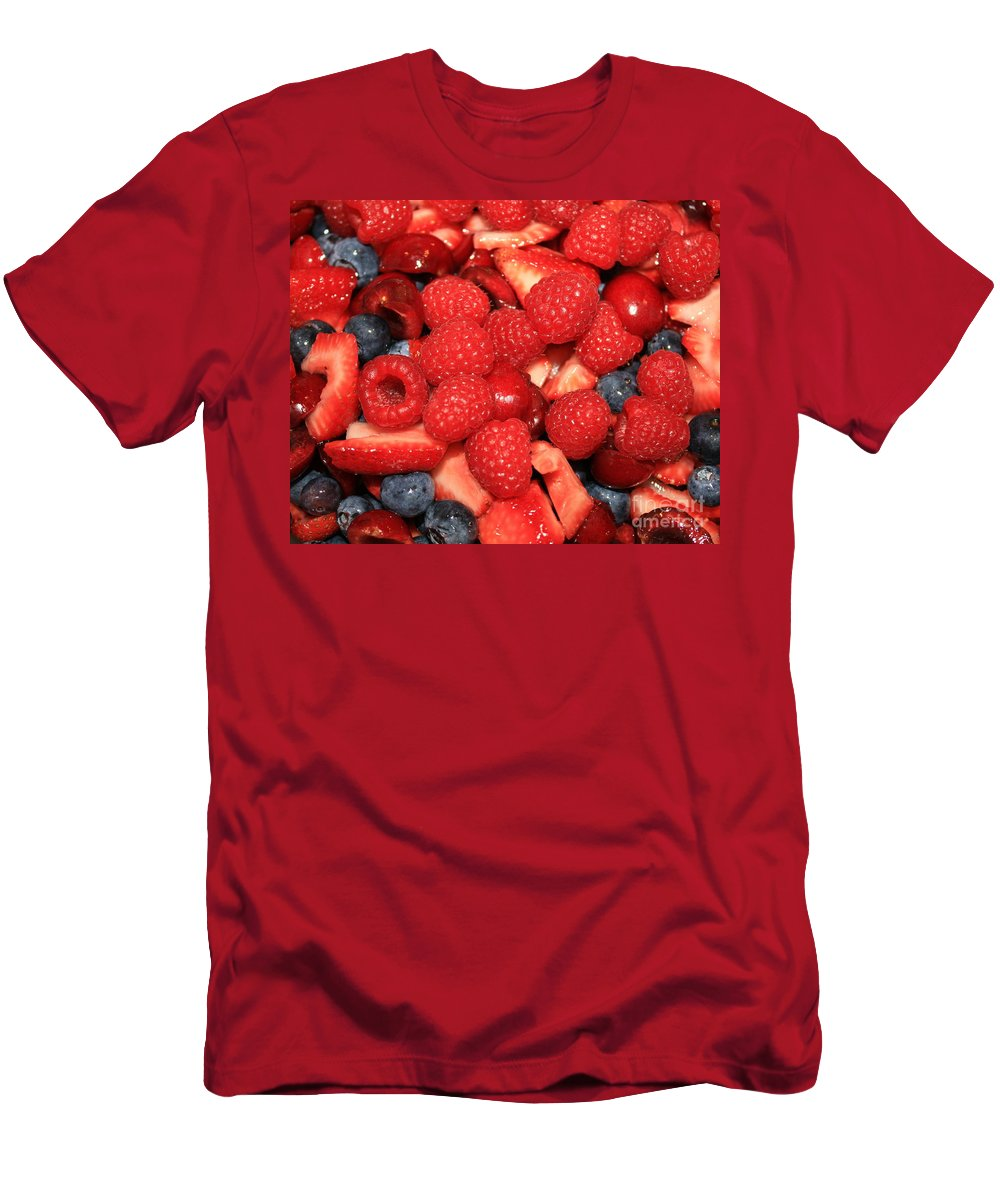 Ffood And Beverage Men's T-Shirt (Athletic Fit) featuring the photograph Mixed Berries by Carol Groenen