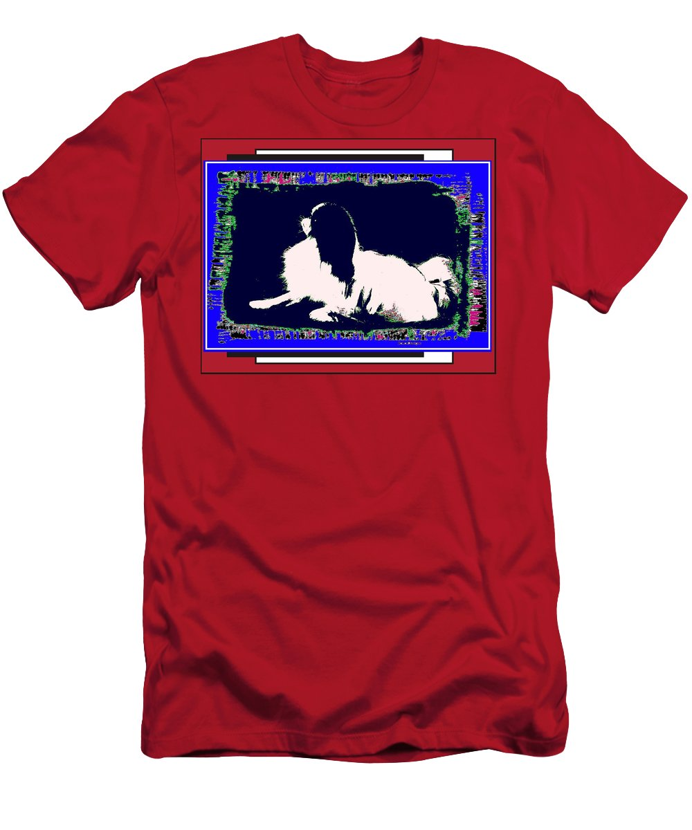 Mod Dog Men's T-Shirt (Athletic Fit) featuring the digital art Mod Dog by Kathleen Sepulveda