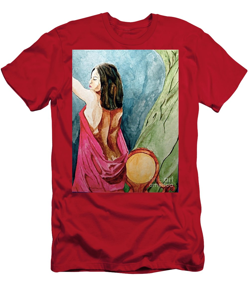 Nudes Women Men's T-Shirt (Athletic Fit) featuring the painting Morning Light by Herschel Fall