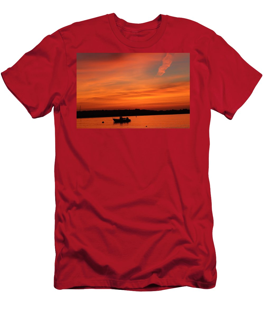 Sunrise Men's T-Shirt (Athletic Fit) featuring the photograph Morning Sunrise 09-02-18 by Maurio Francois