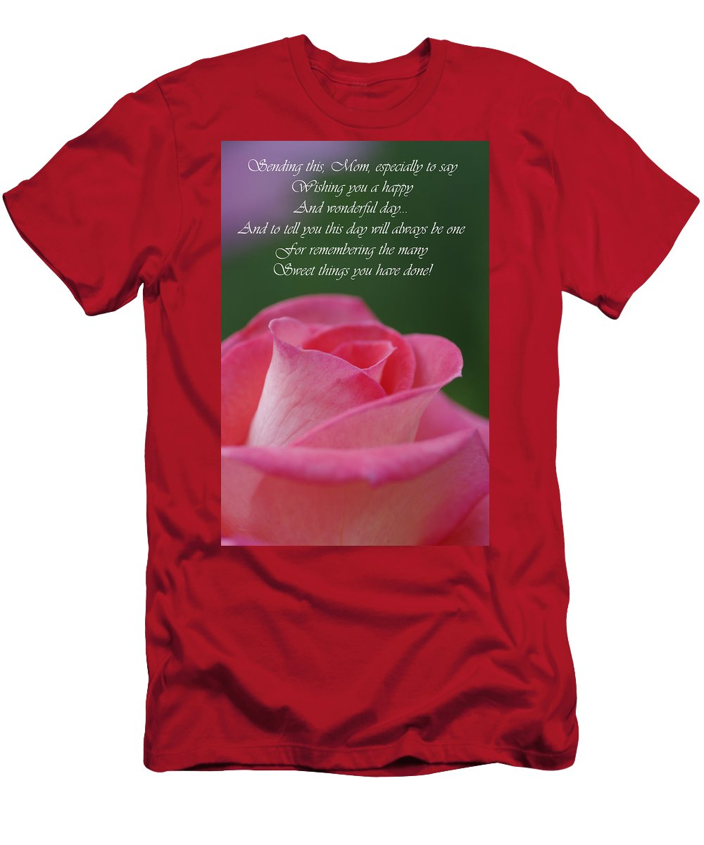Cards Men's T-Shirt (Athletic Fit) featuring the photograph Mother's Day Card 3 by Michael Cummings