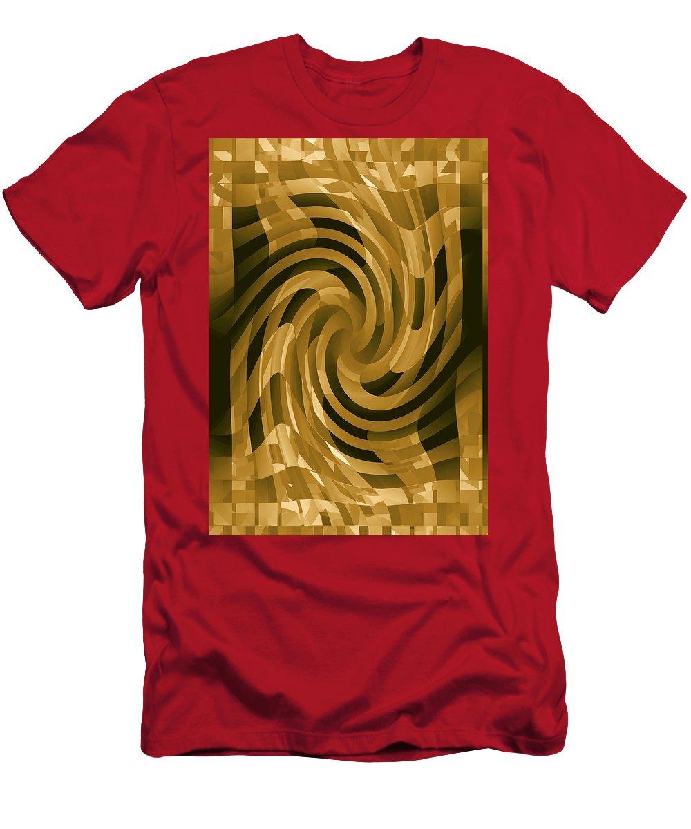 Moveonart! Global Gathering. -- Digital Abstract Art By Jacob Kane -- Omnetra Men's T-Shirt (Athletic Fit) featuring the digital art Moveonart Changeofthought by Jacob Kanduch