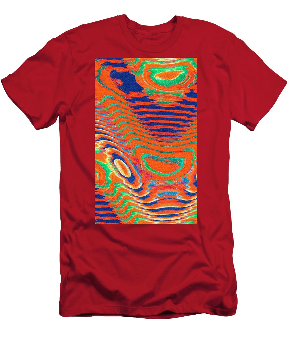 Moveonart Digital Gallery San Francisco California Lower Nob Hill Jacob Kane Kanduch Men's T-Shirt (Athletic Fit) featuring the digital art Moveonart Spontaneous Abstract 1 by Jacob Kanduch