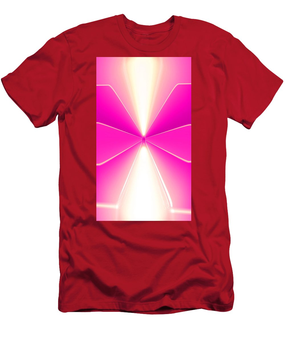 Moveonart Digital Gallery Lower Nob Hill San Francisco California Jacob Kanduch Men's T-Shirt (Athletic Fit) featuring the digital art Moveonart Turn Our Light Up 1 by Jacob Kanduch