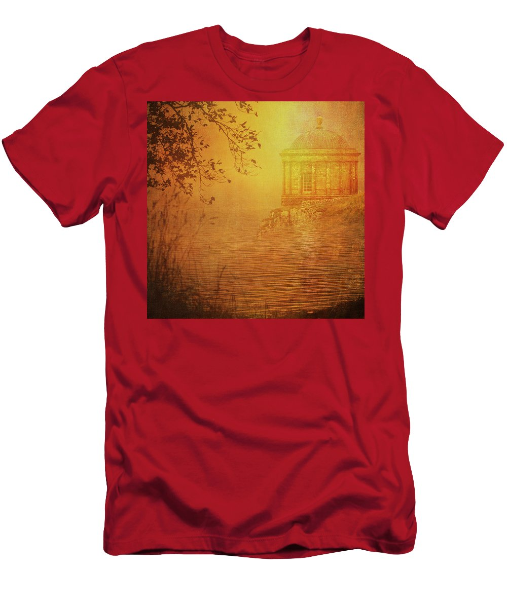 Abstract Men's T-Shirt (Athletic Fit) featuring the digital art Mussenden Temple by Sharon Williams