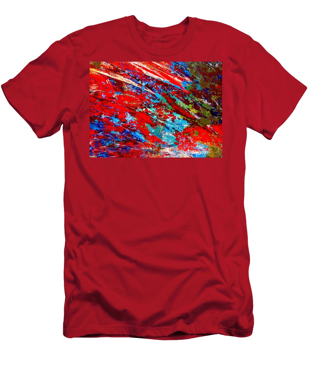 Abstract Men's T-Shirt (Athletic Fit) featuring the painting Nature Harmony by Natalie Holland