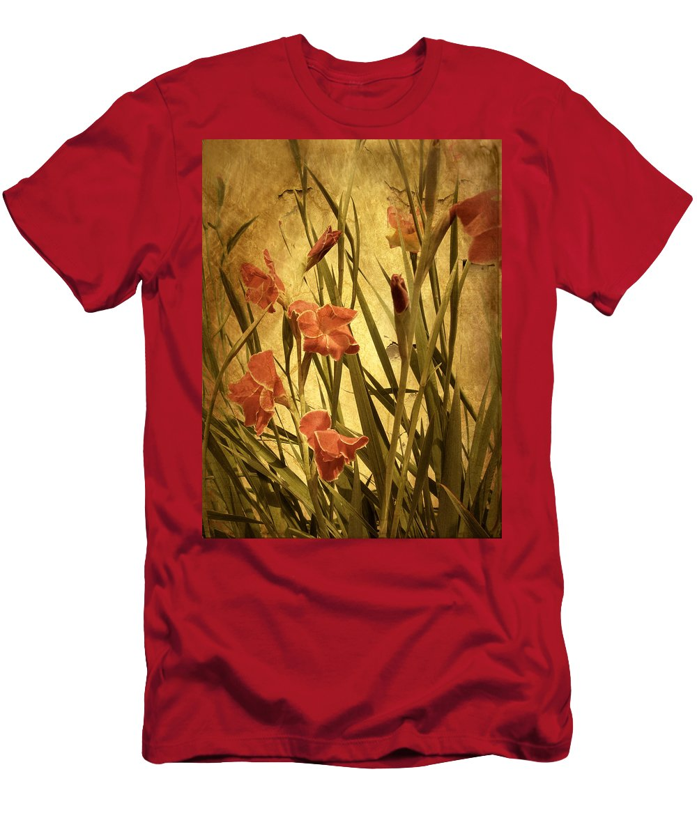 Flowers Men's T-Shirt (Athletic Fit) featuring the photograph Nature's Chaos In Spring by Jessica Jenney