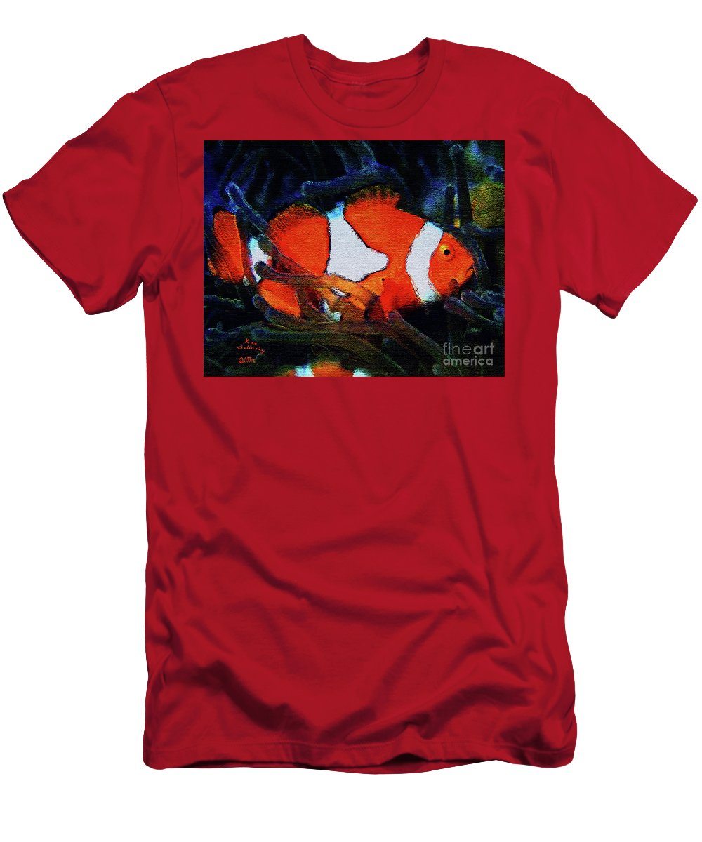 Kat Solinsky Paintings Men's T-Shirt (Athletic Fit) featuring the painting Nemo's Marlin by Kat Solinsky