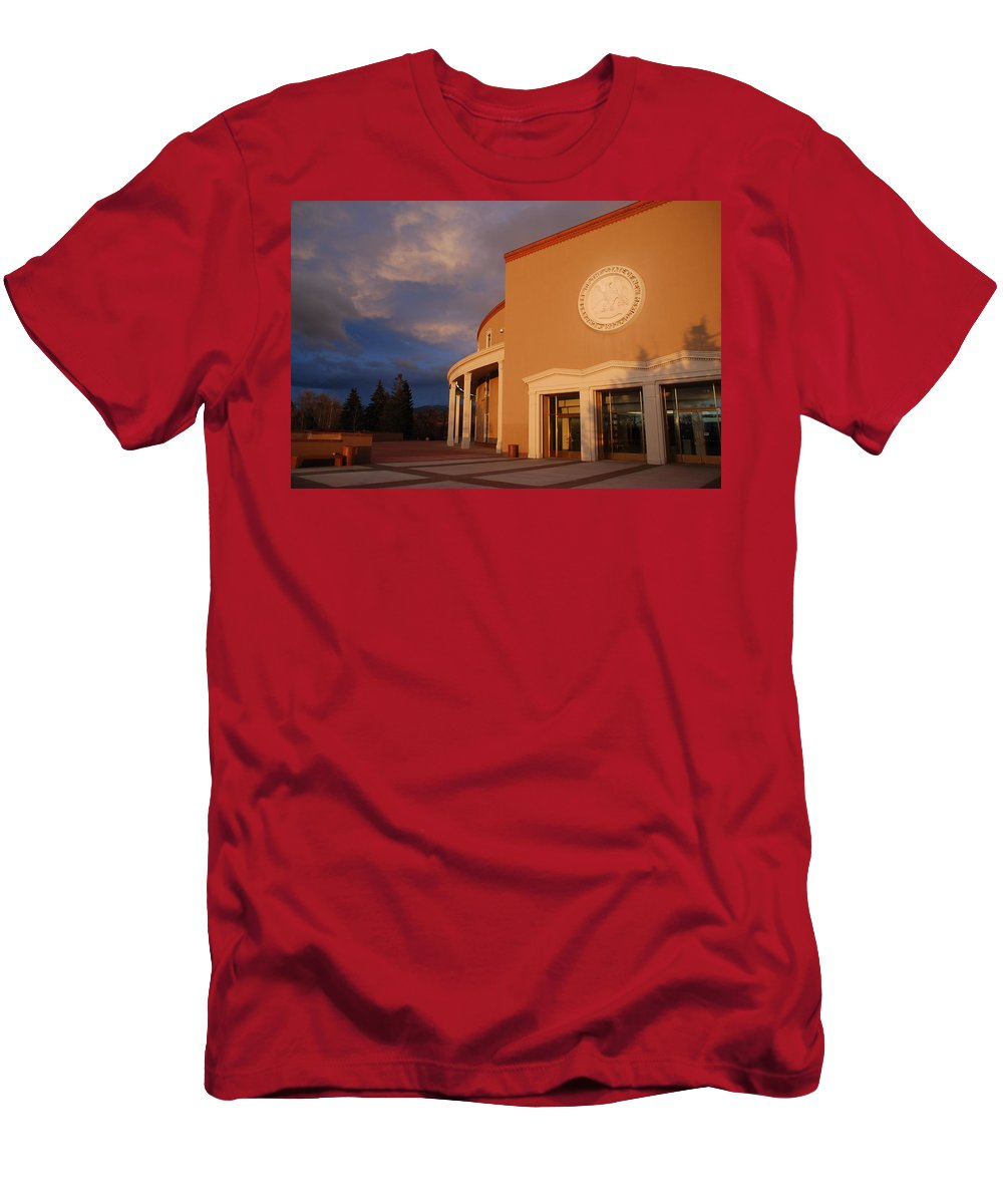 Architecture Men's T-Shirt (Athletic Fit) featuring the photograph New Mexico State Capital Building by Rob Hans