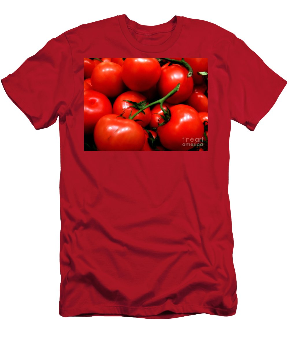 Food Men's T-Shirt (Athletic Fit) featuring the photograph Nice Tomatoes Baby by RC DeWinter