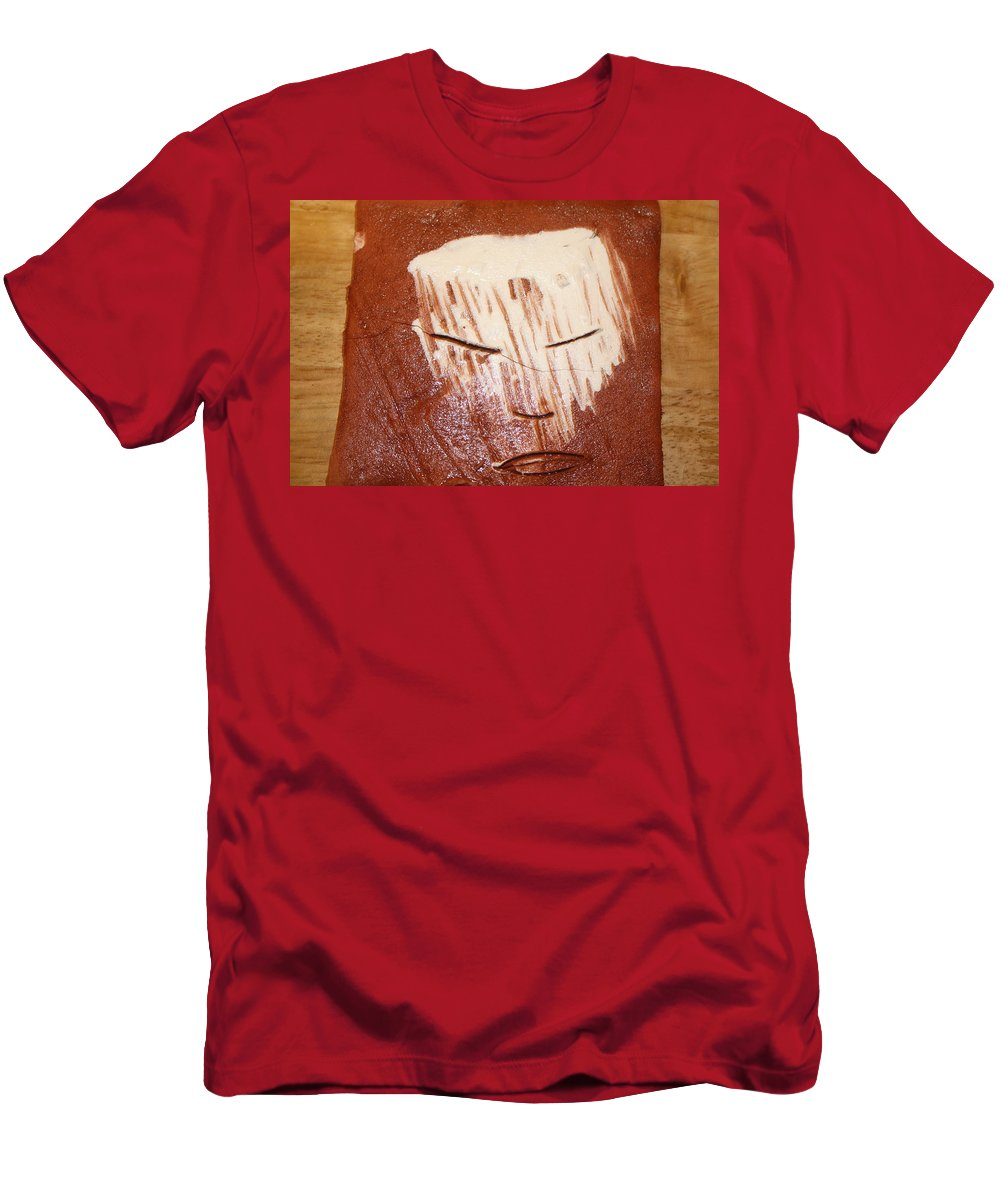 Jesus Men's T-Shirt (Athletic Fit) featuring the ceramic art Night - Tile by Gloria Ssali