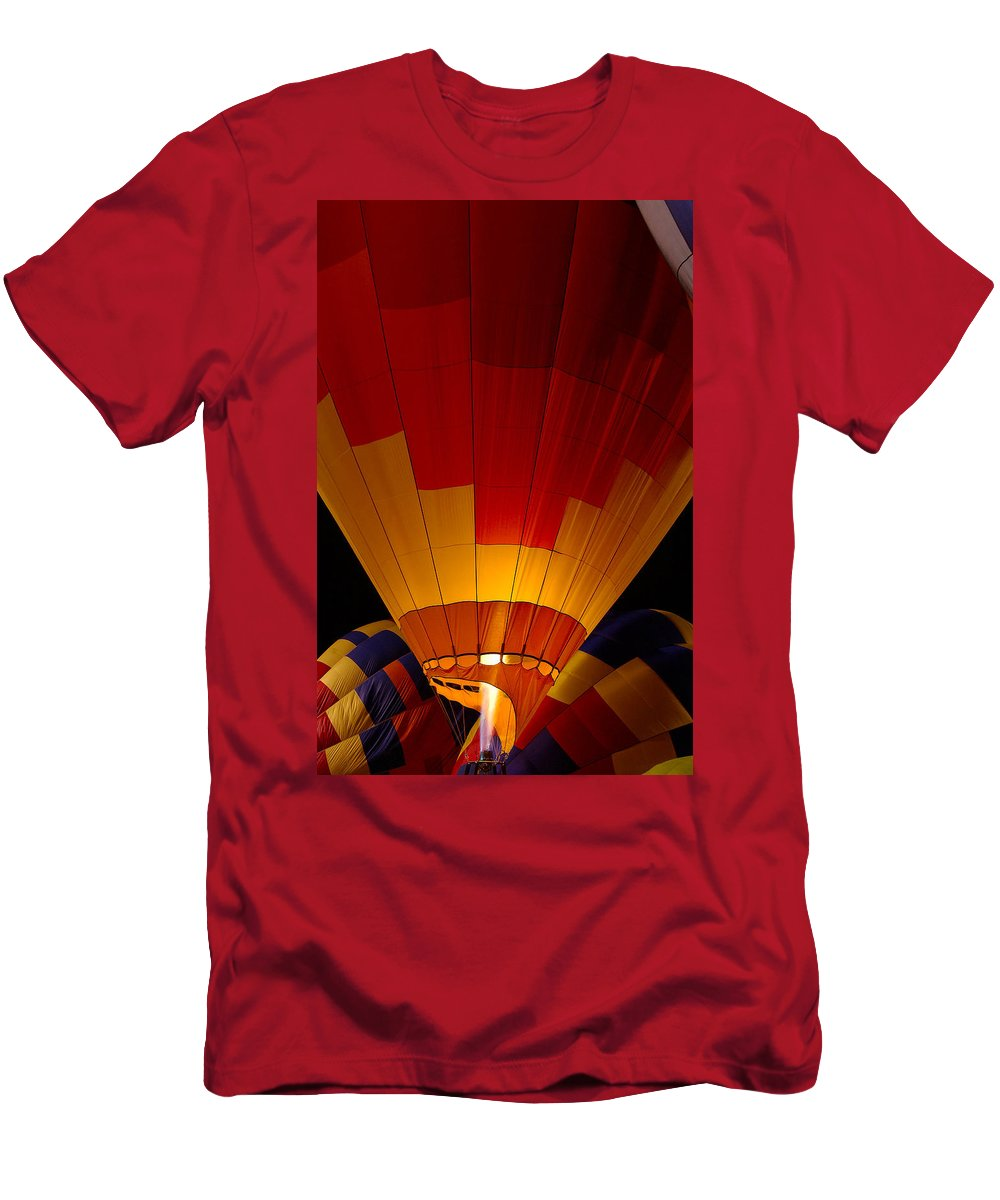 Balloon Men's T-Shirt (Athletic Fit) featuring the photograph Night Flight by Mike Dawson