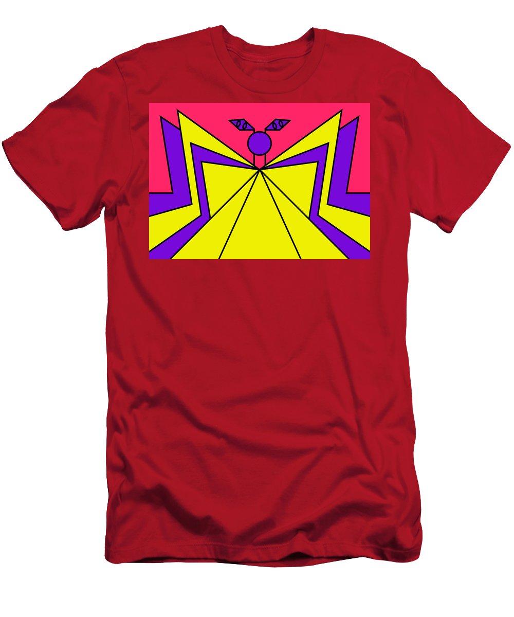 Pop-art Men's T-Shirt (Athletic Fit) featuring the digital art Nightmare City by Peter Dovren