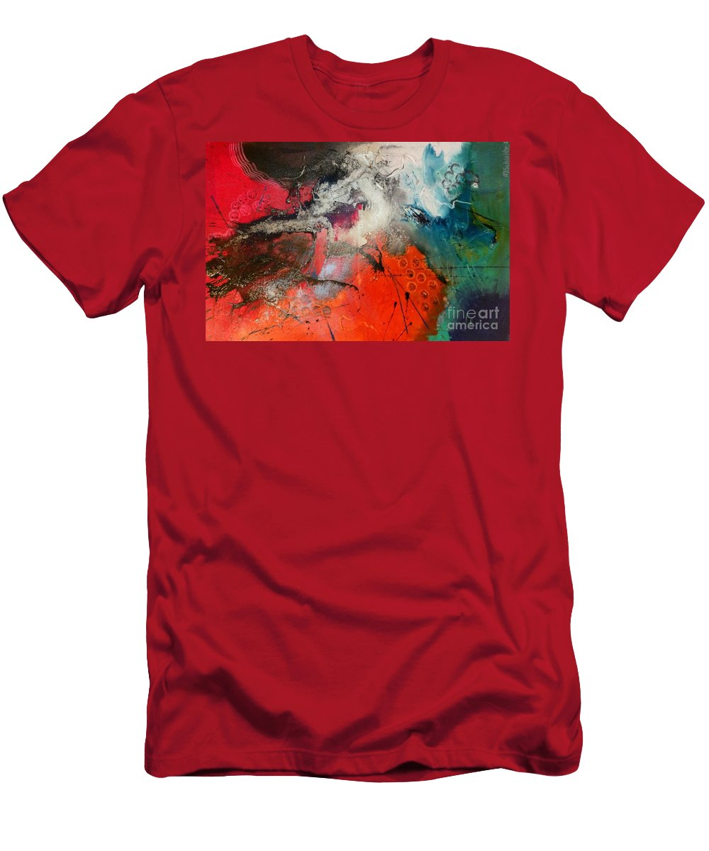 Abstract Art - 60 Cm X 90 Cm Men's T-Shirt (Athletic Fit) featuring the painting No Limits by Martin Schuler