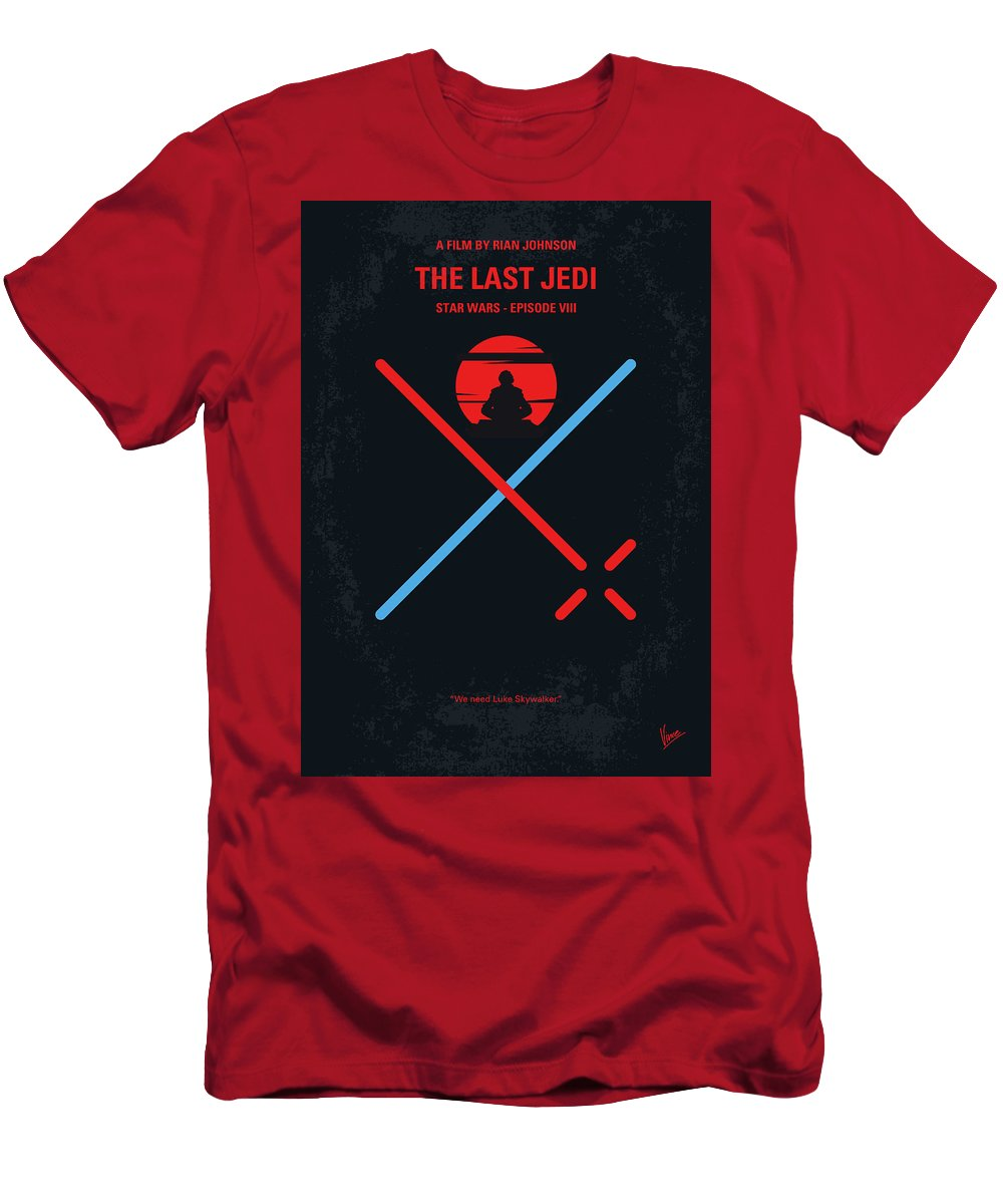 Star T-Shirt featuring the digital art No940 My Star Wars Episode Viii The Last Jedi Minimal Movie Poster by Chungkong Art