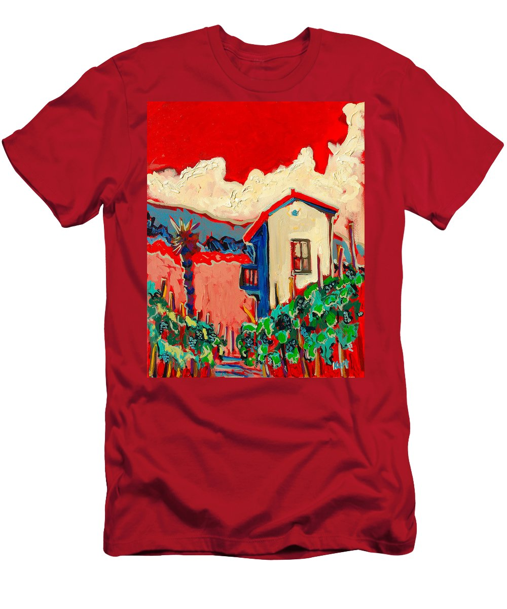 Tuscany Men's T-Shirt (Athletic Fit) featuring the painting Notare by Kurt Hausmann