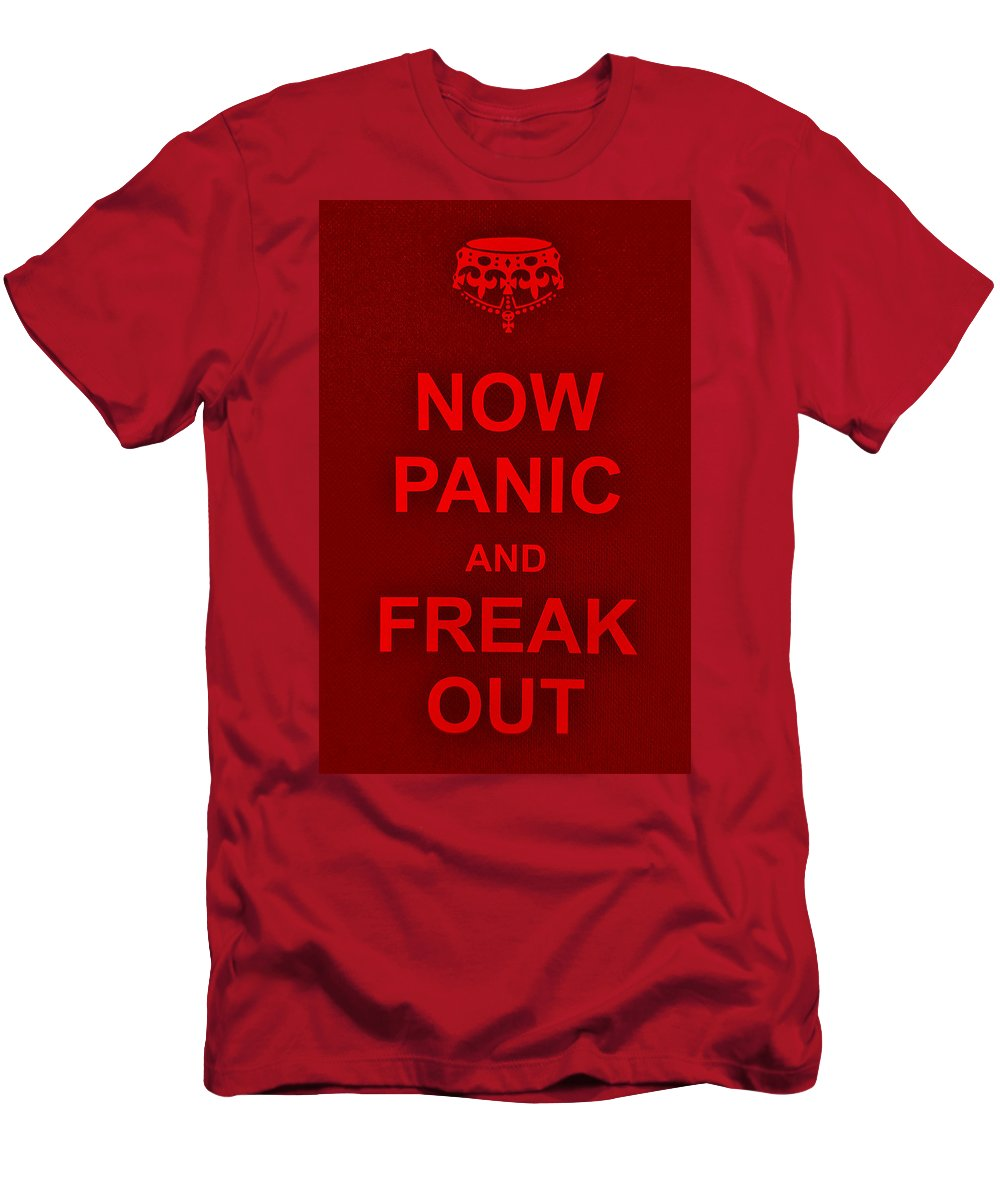 Keep Calm Men's T-Shirt (Athletic Fit) featuring the photograph Now Panic 9 by Rob Hans